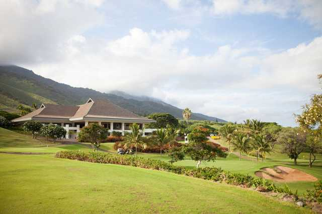 A sunny day view from Kahili Golf Course.