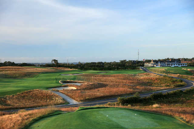 View of the 13th hole at Shinnecock Hills Golf Course