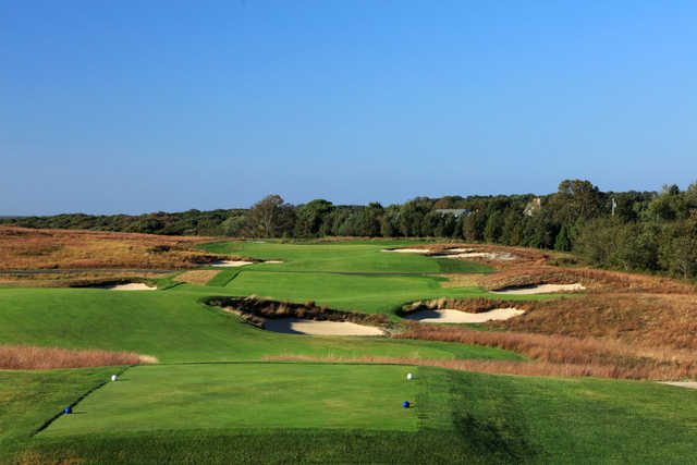 View of the 12th hole at Shinnecock Hills Golf Course.
