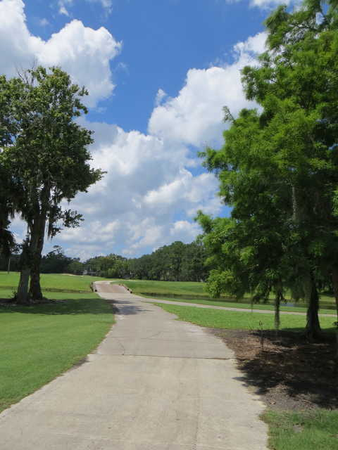 The Oak Bridge Club: bridge to 2nd tee