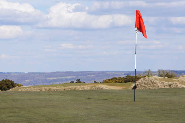View from a green at Cleeve Hill Golf Club