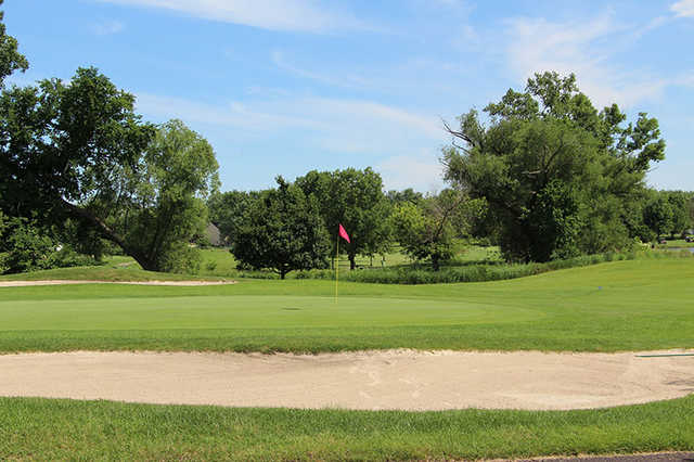 A view of a hole at Boughton Ridge Golf Course.