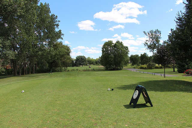 A view from a tee at Boughton Ridge Golf Course.
