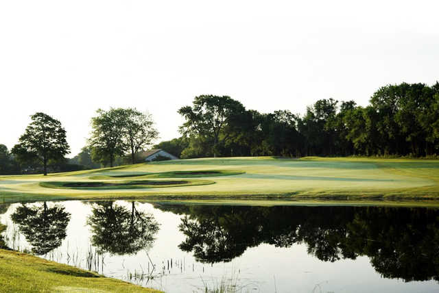 A view over the water from Calumet Country Club.