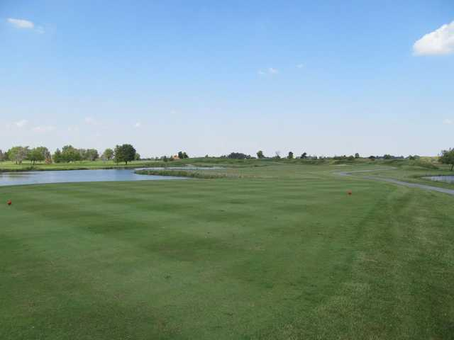 A view of a tee at Green Garden Country Club.