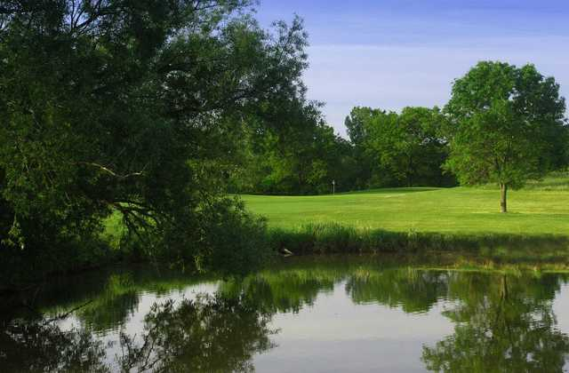 A view over the water from Highland Woods Golf Course.