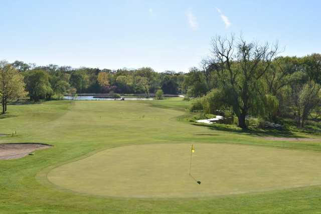 A view of the 15th green at Lake Barrington Shores Golf Club.