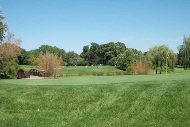 A view of a green at Tam O' Shanter Golf Course.