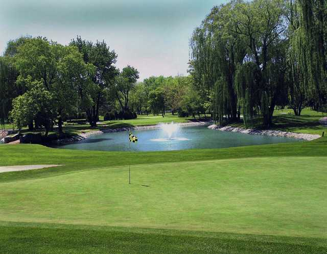 A view of a hole at Old Orchard Country Club.