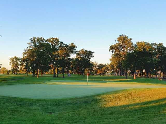 A view of a green at Phillips Park Golf Course.