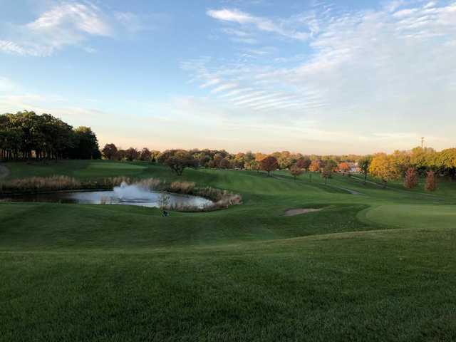 A view of a fairway at Phillips Park Golf Course.