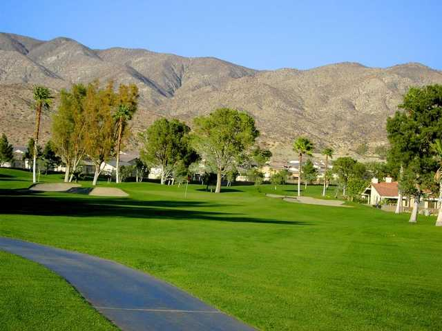 A view of the 4th green at Mission Lakes Country Club
