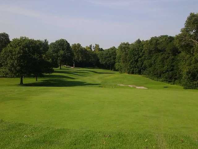 A sunny day view from Woodruff Golf Course.