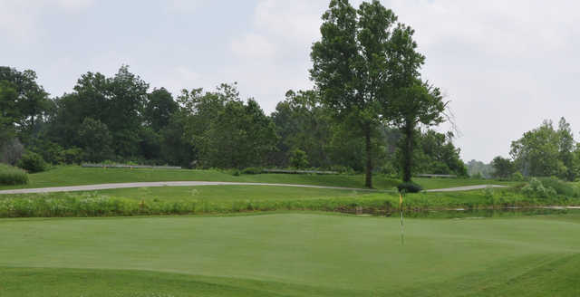A view of a hole at Coffin Golf Club.