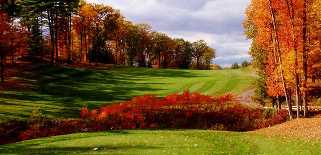 A fall day view from a tee at Canterbury Woods Country Club.