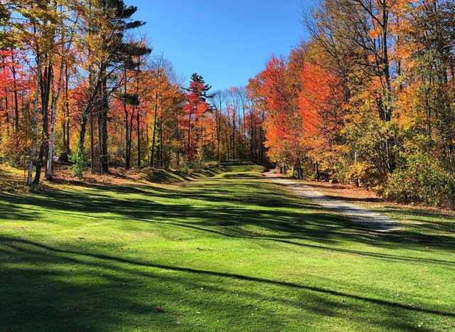 A view of fairway #3 at Maplewood Golf Club.