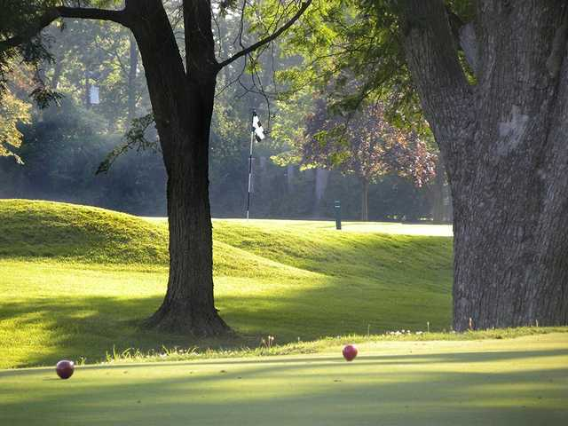 A view of a tee at Hillcrest Country Club.