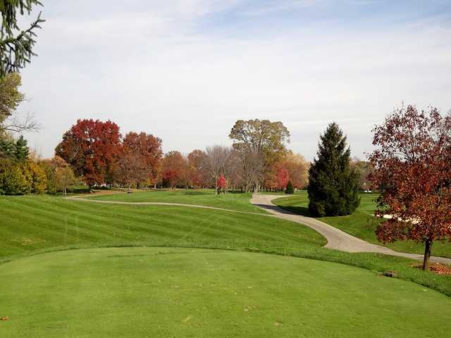 A fall day view from Hillcrest Country Club.