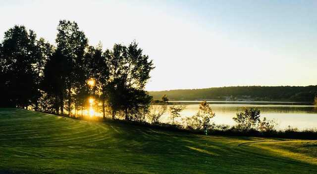 A sunset view from Mineral Mound State Park Golf Course.
