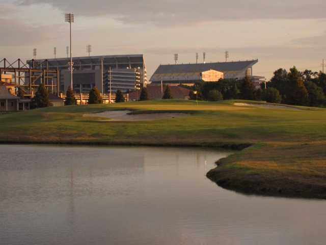 A view of a green at LSU Golf Course.