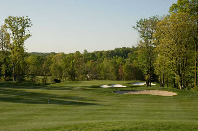 A view of a hole at Mountain Branch Golf Course.