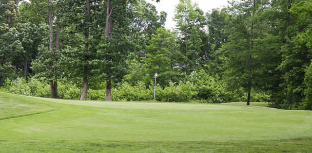 A view of a green at Patriots Glen National Golf Club.