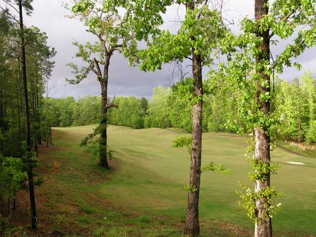 A view of a fairway Dogwood's Golf Course from Hugh White State Park.