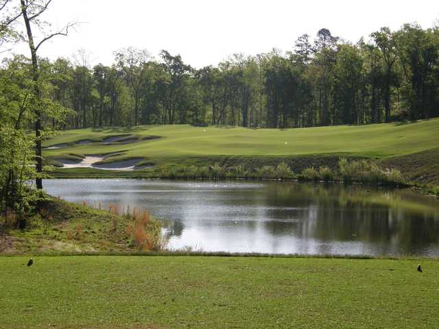 A view from a tee at Dogwood's Golf Course from Hugh White State Park.