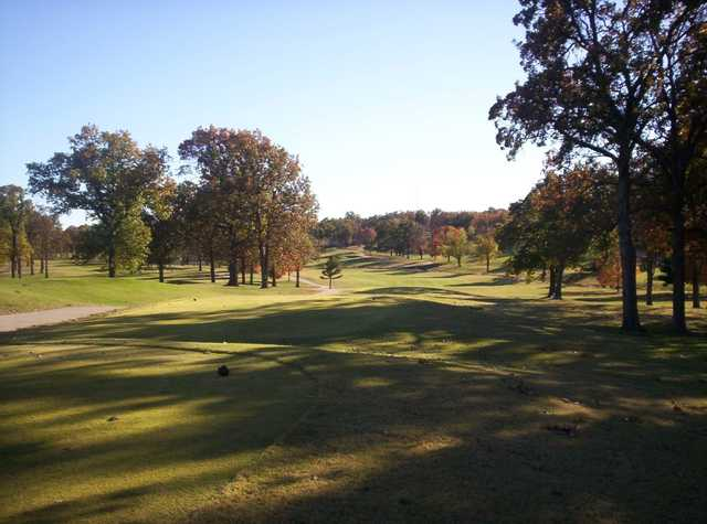 A view from a tee at Carthage Municipal Golf Course.