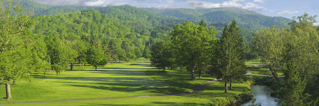 View of the 1st hole from the Old White Course at Greenbrier