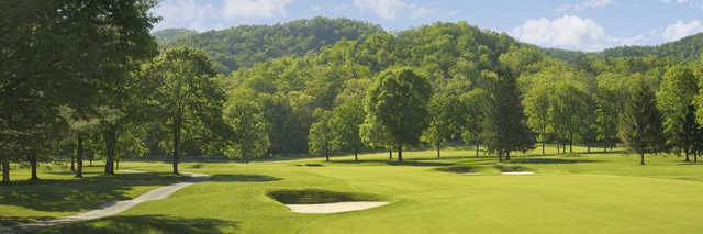 View of the 4th hole from the Old White Course at Greenbrier