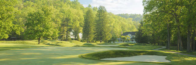 View of the 5th hole from the Old White Course at Greenbrier