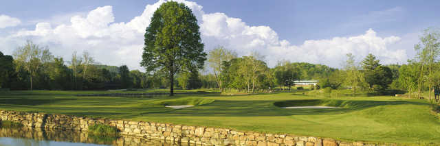 View of the 15th hole from the Old White Course at Greenbrier