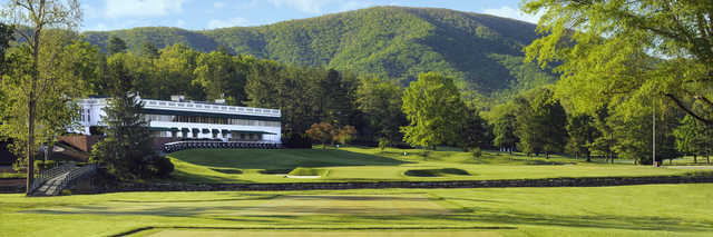 View of the 18th hole from the Old White Course at Greenbrier