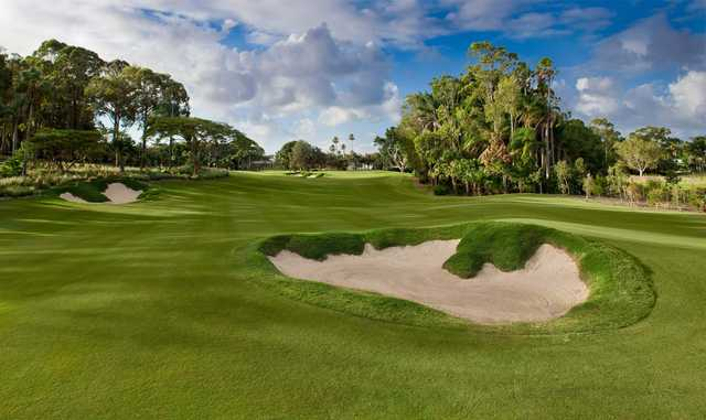 View of the 1st hole from the The Palms at Sanctuary Cove Resort