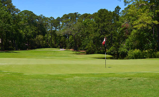 A view of hole #8 at Sea Pines Country Club.