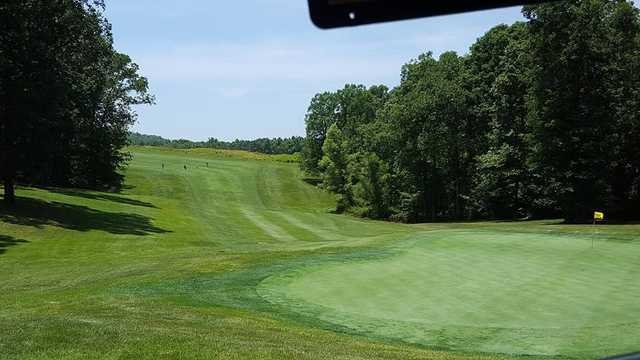 A view of a green from Bear Trace at Cumberland Mountain State Park.