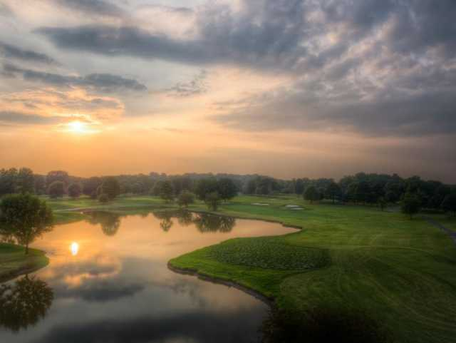 A sunset view from General's Retreat at Hermitage Golf Course.