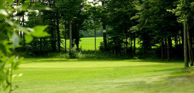 A view of a hole at Sunset Ridge Golf Club.