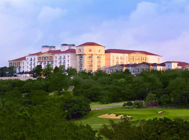 A view of a hole at The Resort from La Cantera Resort.