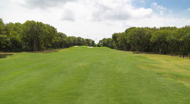 A view from a fairway at Southern Oaks Golf Club.