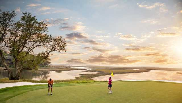 View of the 16th green from the Oak Marsh at Omni Amelia Island Resort