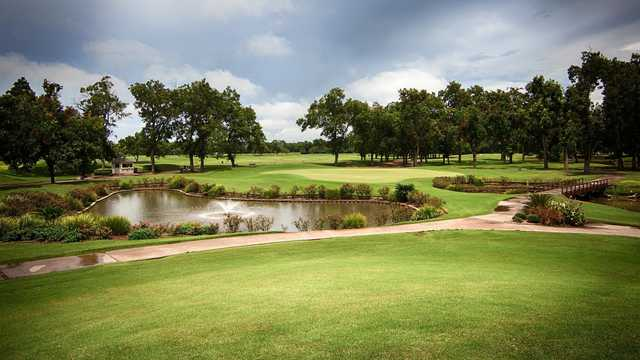 A view over a pond at Sweetwater Country Club.