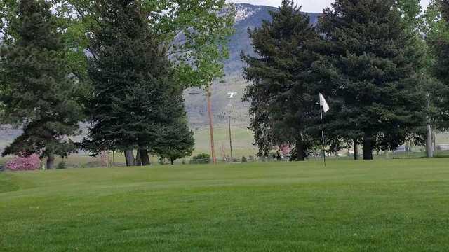 A view of a green at Oquirrh Hills Golf Course.