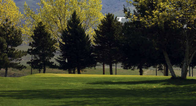 A view of a hole at Oquirrh Hills Golf Course.