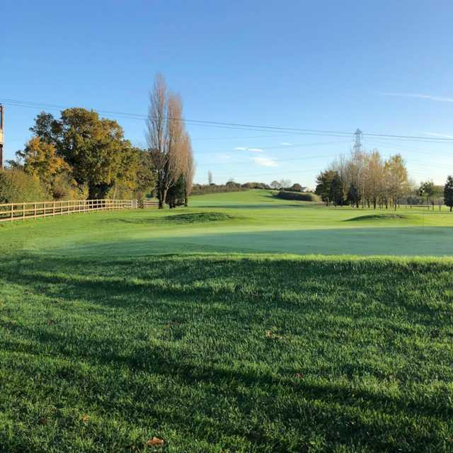 Looking back from a green at Shortwood Lodge Golf Club