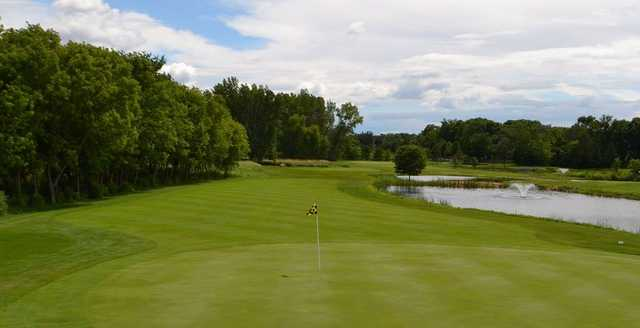 Looking back from a green at Centerbrook Golf Course