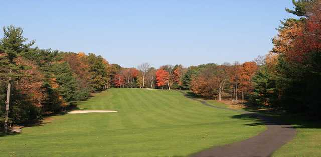 Fall view of the 4th fairway and green at Paupack Hills Golf & Country Club