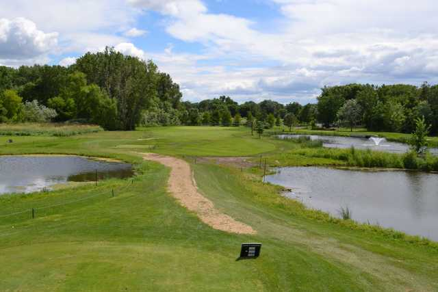 A view from a tee at Centerbrook Golf Course.