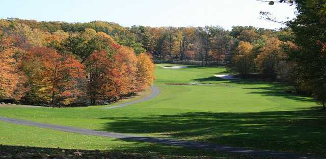 A view of the 13th fairway at Paupack Hills Golf & Country Club.